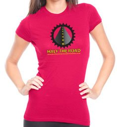 Women's Raspberry Half the Road T-Shirt