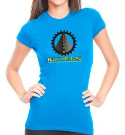 Women's Turquoise Half the Road T-Shirt