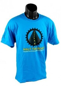 Men's Blue Half the Road T-Shirt